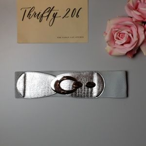 Accessories - [Silver Metallic Faux Animal Print Belt]